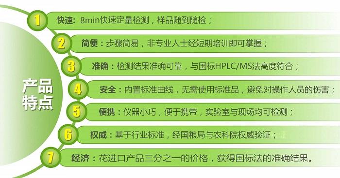 真菌毒素系列荧光定量检测试纸条产品优点